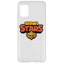 Чехол для Samsung A31 Brawl Stars logo orang and yellow
