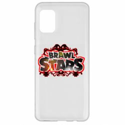Чехол для Samsung A31 Brawl stars logo red pattern
