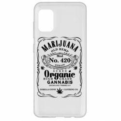 Чохол для Samsung A31 Cannabis label