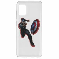 Чехол для Samsung A31 Captain america with red shadow