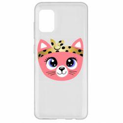 Чехол для Samsung A31 Cat pink