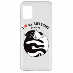 Чехол для Samsung A31 Cats and love