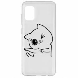 Чехол для Samsung A31 Cheerful kitten