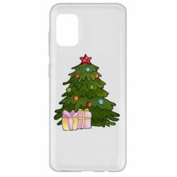 Чехол для Samsung A31 Christmas tree and gifts art