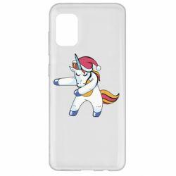 Чохол для Samsung A31 Christmas Unicorn