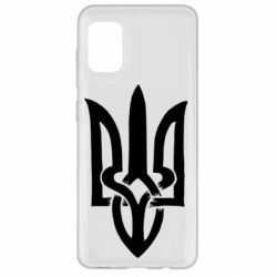 Чехол для Samsung A31 Coat of arms of Ukraine torn inside