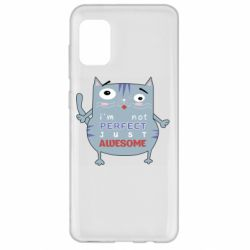 Чехол для Samsung A31 Cute cat and text