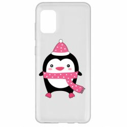Чехол для Samsung A31 Cute Christmas penguin