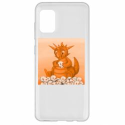 Чохол для Samsung A31 Cute dragon with skulls
