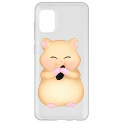 Чохол для Samsung A31 Cute hamster with sunflower seed