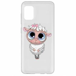 Чехол для Samsung A31 Cute lamb with big eyes