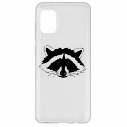 Чохол для Samsung A31 Cute raccoon face