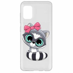 Чехол для Samsung A31 Cute raccoon