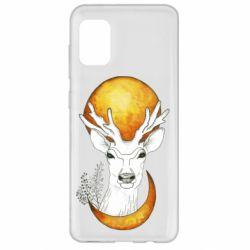Чехол для Samsung A31 Deer and moon