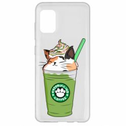 Чехол для Samsung A31 Delicious cat