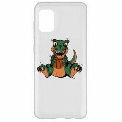 Чехол для Samsung A31 Dinosaur and basketball