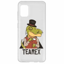 Чохол для Samsung A31 Dinosaur with tea