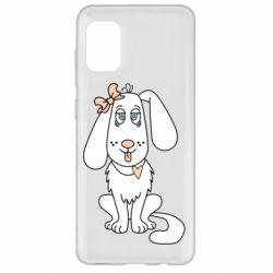 Чехол для Samsung A31 Dog with a bow