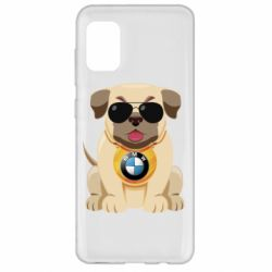 Чохол для Samsung A31 Dog with a collar BMW