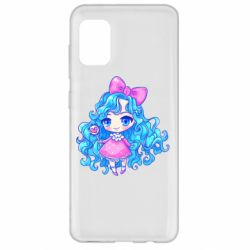 Чохол для Samsung A31 Doll with blue hair