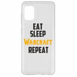 Чехол для Samsung A31 Eat sleep Warcraft repeat