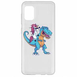 Чохол для Samsung A31 Єдиноріг і динозавр