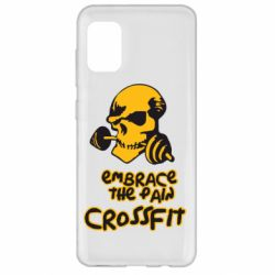 Чехол для Samsung A31 Embrace the pain. Crossfit