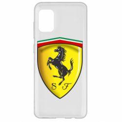Чехол для Samsung A31 Ferrari 3D Logo