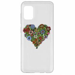 Чохол для Samsung A31 Flower heart