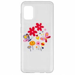 Чехол для Samsung A31 Flowers and Butterflies