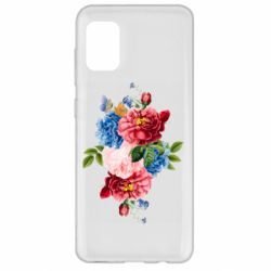 Чохол для Samsung A31 Flowers and butterfly