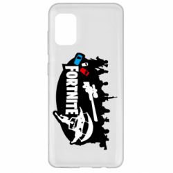 Чехол для Samsung A31 Fortnite logo and heroes