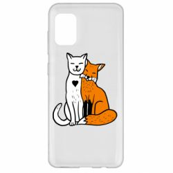 Чохол для Samsung A31 Fox and cat heart
