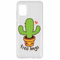 Чехол для Samsung A31 Free Hugs Cactus