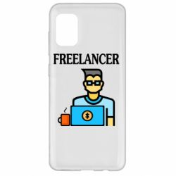 Чехол для Samsung A31 Freelancer text