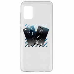 Чехол для Samsung A31 Gambling Cards The Witcher and Cyrilla