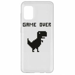 Чехол для Samsung A31 Game over dino from browser