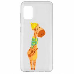 Чехол для Samsung A31 Giraffe in a scarf