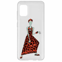 Чехол для Samsung A31 Girl in a dress without a face