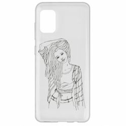 Чехол для Samsung A31 Girl with dreadlocks