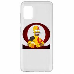 Чохол для Samsung A31 God of war: Simpson