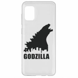 Чохол для Samsung A31 Godzilla and city