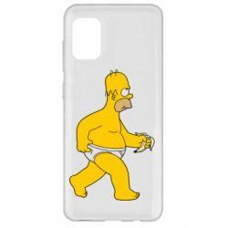 Чехол для Samsung A31 Гомер Симпсон в трусиках
