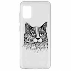 Чохол для Samsung A31 Graphic cat