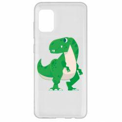 Чохол для Samsung A31 Green little dinosaur