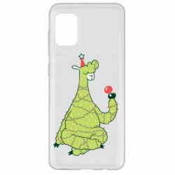 Чехол для Samsung A31 Green llama with a garland
