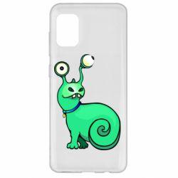 Чехол для Samsung A31 Green monster snail