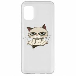 Чохол для Samsung A31 Grumpy Cat Art nope