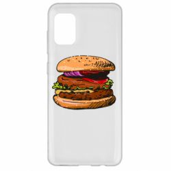 Чехол для Samsung A31 Hamburger hand drawn vector