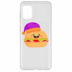 Чехол для Samsung A31 Happy hamburger